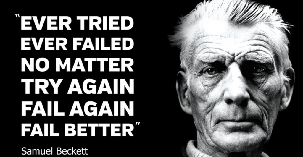 Samuel Beckett Quote - failing